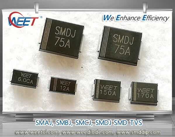 2 Pins DO-214AA SMBJ60A Unidirectional SMBJ60A 60 V SMBJ Series Pack of 50 96.8 V TVS Diode