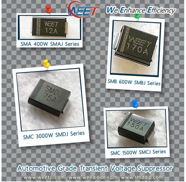 ESD Suppressors//TVS Diodes 1500W 85V Bidirect SMCJ85CA-TR Pack of 100